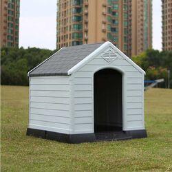 Σπίτι Σκύλου LARGE 78.5x87.7x81.5cm 9.5kg Ανοιχτό Γκρί-Γκρί VESTA