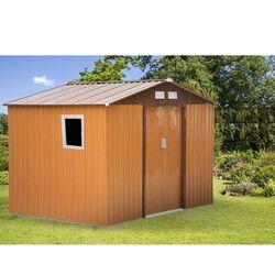 Μεταλλική Αποθήκη Κήπου - Σπιτάκι Κήπου 277x191x212cm (9.1'x6.3') 11.25m3 Γαλβανιζέ με Παράθυρο Archer Plus C Καφέ LILYSHED