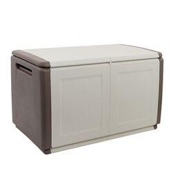 Μπαούλο 96x53x57 230lt Αποθήκευσης Πλαστικό MASSIF 11kg Γκρι Καφέ/Μπεζ ARTPLAST CUBE