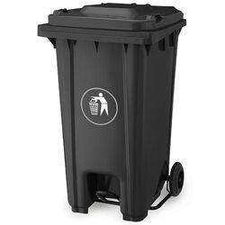 Κάδος Απορριμάτων 240lt με Ρόδες+Πεντάλ 58x72x107cm Πλαστικός ΒΑΡΕΟΥ ΤΥΠΟΥ 16.5kg Επαγγελματικός/Οικιακός-Κήπου Ανθρακί