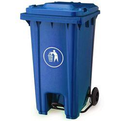 Κάδος Απορριμάτων 240lt με Ρόδες+Πεντάλ 58x72x107cm Πλαστικός ΒΑΡΕΟΥ ΤΥΠΟΥ 16.5kg Επαγγελματικός/Οικιακός-Κήπου Μπλε