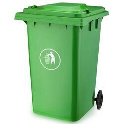 Κάδος Απορριμάτων 360lt με Ρόδες 71x85x112cm Πλαστικός ΒΑΡΕΟΥΣ ΤΥΠΟΥ 20kg Επαγγελματικός/Οικιακός Κήπου Πράσινος