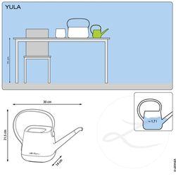 LECHUZA YULA Ποτιστήρι 30x14x21.5cm 1.7lt Πλαστικό Λευκό-Πράσινο Γερμανίας