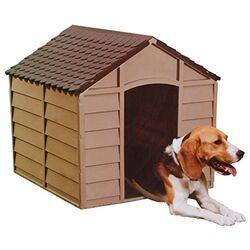 STARPLAST Σπίτι Σκύλου 71x72x68.5cm Medium 6kg Μόκα-Σοκολατί