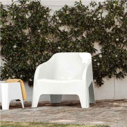 TOOMAX Πολυθρόνα-Καρέκλα Κήπου Στοιβαζόμενη 79x76.5x70cm Βάρος 6.8kg Petra Matte White Ιταλίας