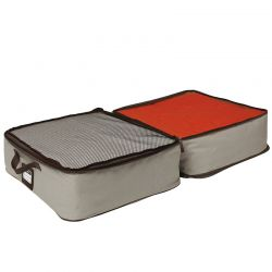 ORDINETT ITALY Θήκη Φύλαξης Ρούχων/Κουβερτών 50x40x30cm 2 Θέσεων EGO BOX DOUBLE Εκρού