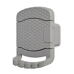 TOOMAX FASHION ITALY Βάση Λάστιχου 29x20x37cm Πλαστική με Αποθηκευτικό Χώρο RATTAN STYLE TUBO Γκρι