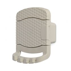 TOOMAX FASHION ITALY Βάση Λάστιχου 29x20x37cm Πλαστική με Αποθηκευτικό Χώρο RATTAN STYLE TUBO Κρεμ