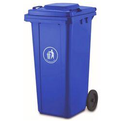 VESTA Κάδος Απορριμάτων 120lt 47x54x95cm Πλαστικός ΒΑΡΕΟΥ ΤΥΠΟΥ 8.4kg Επαγγελματικός/Οικιακός-Κήπου Μπλε
