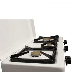 Εστία Υγραερίου (Πετρογκάζ) με 2.5 Εστίες 60x36x13cm Επιτραπέζια Λευκή Ελλάδας