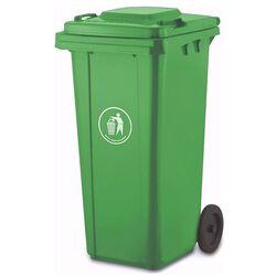 VESTA Κάδος Απορριμάτων 120lt 47x54x95cm Πλαστικός ΒΑΡΕΟΥ ΤΥΠΟΥ 8.4kg Επαγγελματικός/Οικιακός-Κήπου Πράσινο