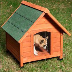 VESTA Ξύλινο Σπιτάκι Σκύλου Small 72x76x76cm 17kg Καφέ-Πράσινο