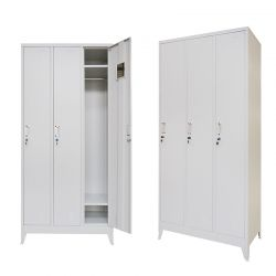 VESTA Μεταλλική Ντουλάπα - Φοριαμός (Locker) 90x45x195cm 3φυλλη51kg με Ρυθμιζόμενα Πόδια 9 Αποθηκευτικών Χώρων