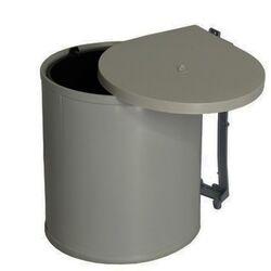 Κάδος Απορριμμάτων Ντουλαπιού Κουζίνας Εσωτερικός Ø26.5x32cm Πλαστικός 13lt 1.1kg Γκρι Σκούρο Ελλάδας
