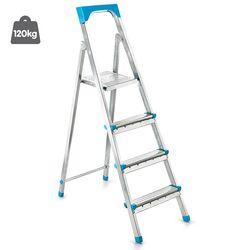 Σκάλα Γαλβανιζέ με 3+1 Σκαλιά 40.5x81.5x122cm Βάρος 4.77kg Αντοχή 120kg