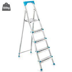 Σκάλα Γαλβανιζέ με 4+1 Σκαλιά 42.5x94x145.5cm Βάρος 5.60kg Αντοχή 120kg