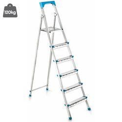 Σκάλα Γαλβανιζέ με 5+1 Σκαλιά 44.5x110.5x165cm Βάρος 6.45kg Αντοχή 120kg