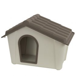 ARTPLAST ITALY Σπίτι Σκύλου 79x59x60.5cm Medium 6.5kg Μπεζ/Καφέ