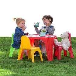 STARPLAY Σετ Πλαστικό Τραπέζι 55x55x37.5cm + 4 Πλαστικές Καρέκλες 35x28x41cm (x4) KEREN SET
