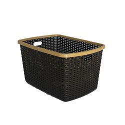 Καλάθι Ρούχων 55x35x26.5cm 40lt RATTAN Καφέ Σκούρο - Μπεζ