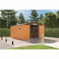 Μεταλλική Αποθήκη Κήπου - Σπιτάκι Κήπου 340x446x220cm (11.2'x14.6') 33.33m³ Γαλβανιζέ με Παράθυρο Archer Plus H Καφέ LILYSHED