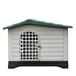 Σπίτι Σκύλου Medium 91.4x68.9x66cm με Πορτάκι Ασφαλείας και Ανοιγόμενη Πλευρά 8kg Λευκό Πάγου-Πράσινο VESTA