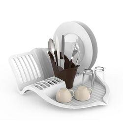 ΒΑΜΑ Πιατοθήκη Στεγνωτήριο Πιάτων 41x35x17cm Πλαστικό Βάρος 0.52kg 12 Θέσεις Πιάτων με Θήκη για Μαχαιροπήρουνα FOLIA Μπεζ-Καφέ