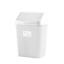 Κάδος Απορριμάτων 25x19x34cm Κλικ 10lt με Σχέδιο Πλεκτού 0.47kg Λευκό