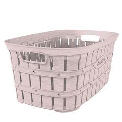 Καλάθι Ρούχων 55x34x25cm 40lt Πλαστικό 0.80kg με Όψη Μπαμπού Απαλό Ροζ