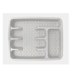 Κουταλοθήκη Συρταριού 37x29x5cm Πλαστική 5 Θέσεων RATTAN Λευκή