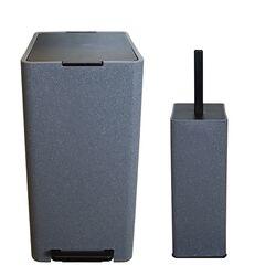 Σετ Κάδος Μπάνιου με Πεντάλ 17lt με Εσωτερικό Κάδο 10lt και Πιγκάλ Πλαστικό SOFT CLOSE Λάβα Ελλάδας