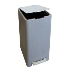 Σετ Κάδος Μπάνιου με Πεντάλ 17lt με Εσωτερικό Κάδο 10lt και Πιγκάλ Πλαστικό SOFT CLOSE Πέτρα Ελλάδας