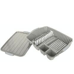 Πιατοθήκη Στεγνωτήρι Πιάτων 48x38x9cm Βάρος 0.82kg 12 Θέσεις Πιάτων με Δίσκο RATTAN Λευκό