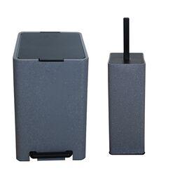 Σετ Κάδος Μπάνιου με Πεντάλ 13.5lt με Εσωτερικό Κάδο 7lt και Πιγκάλ Πλαστικό SOFT CLOSE Λάβα Ελλάδας