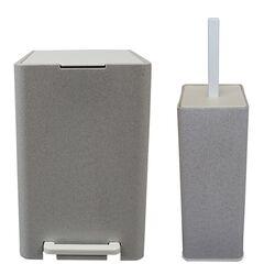 Σετ Κάδος Μπάνιου με Πεντάλ 13.5lt με Εσωτερικό Κάδο 7lt και Πιγκάλ Πλαστικό SOFT CLOSE Πέτρα Ελλάδας