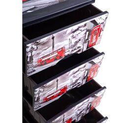 Συρταριέρα Πλαστική 4όροφη 38x46x90cm 5.4kg Καφέ Σκούρο με Decor London