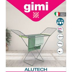 GIMI Απλώστρα Ρούχων Αλουμινίου 172x56x93cm 3φυλλη Μεταλλικά Βαμμένα Πόδια Άπλωμα 20m Αντοχή 20kg CRONO ALUTECH Ιταλίας