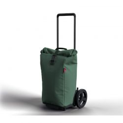 GIMI ITALY Καρότσι Λαϊκής XXL 60lt Μεταλλικό με Ισοθερμική Τσάντα/Cooler Πολυεστέρα Τηλεσκοπικό Χερούλι Αντοχής 30kg KOOL GREEN Πράσινο