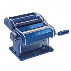 Marcato ATLAS150 DESIGN ΑΛΟΥΜΙΝΙΟ Ανοδιωμένο Βαμμένο Μηχανή Φύλλου και Ζυμαρικών 20x20x15.5cm Διαιρούμενη MAX Πλάτος Ζύμης 15cm Βάρος 1.68kg Μπλε Ιταλίας