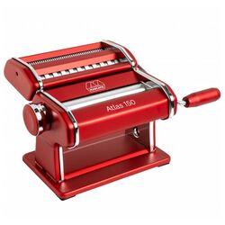 Marcato ATLAS150 DESIGN ΑΛΟΥΜΙΝΙΟ Ανοδιωμένο Βαμμένο Μηχανή Φύλλου και Ζυμαρικών 20x20x15.5cm Διαιρούμενη MAX Πλάτος Ζύμης 15cm Βάρος 1.68kg Κόκκινο Ιταλίας