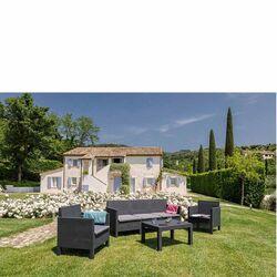 TOOMAX ITALY Καθιστικό-Σαλόνι Κήπου 5 Ατόμων + Τραπέζι Κήπου Πολυπροπυλένιο Rattan Ανθρακί PENELOPE 5 SEATS