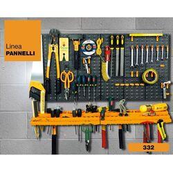 Εργαλειοθήκη Τοίχου/Organiser 100x21.3x50cm Πλαστικό με Διάτρητη Πλάτη 2 Ράφια 50 Γάντζους Μαύρο-Πορτοκαλί Artplast Ιταλίας