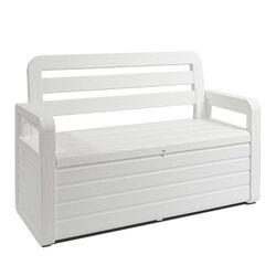 TOOMAX Παγκάκι 2 Ατόμων/Μπαούλο Αποθήκευσης 270Lt 132.5x58x89cm Πλαστικό 16kg UV RESISTANT Λευκό PANCHINA FOREVERSPRING
