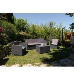 TOOMAX ITALY Καθιστικό-Σαλόνι Κήπου 5 Ατόμων + Τραπέζι Κήπου με Αποθηκευτικό Χώρο Πολυπροπυλένιο Rattan Ανθρακί AURELIA 5 SEATS