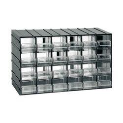 Σύστημα Αποθήκευσης Πολλαπλών Χρήσεων/Συρταριέρα Εργαλειοθήκη Organiser 38.2x14.8x23cm με 24 Διάφανα Συρτάρια Μαύρο Artplast Ιταλίας