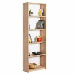 Βιβλιοθήκη-Ραφιέρα 5όροφη 64x26x182cm Ξύλινη 23.3kg Sonoma