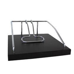 Χαρτοπετσετοθήκη Ξύλινη Τετράγωνη 22x22x9cm Βάρος 1kg Νίκελ με Μπάρα Σταθεροποίησης σε Wenge Χρώμα