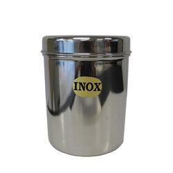 Ανοξείδωτο Δοχείο-Βάζο Στρογγυλό Ø10x13.5cm με Ανοξείδωτο Καπάκι