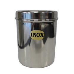 Ανοξείδωτο Δοχείο-Βάζο Στρογγυλό Ø11.5x15cm με Ανοξείδωτο Καπάκι