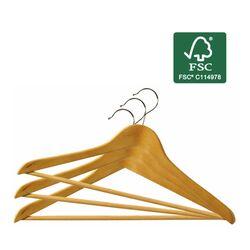 ORDINETT ITALY Κρεμάστρες Ρούχων 45x1.2x23cm (x3) από Οικολογικό Ξύλο με Πιστοποίηση FSC ΣΕΤ 3 Τεμαχίων SET HANGER WOOD Ανοιχτόχρωμο